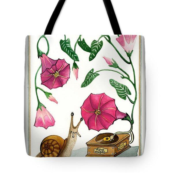 Love Music Tote Bag by Deyana Deco