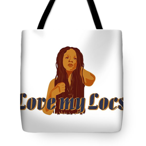 Tote Bag featuring the digital art Love My Locs by Rachel Natalie Rawlins