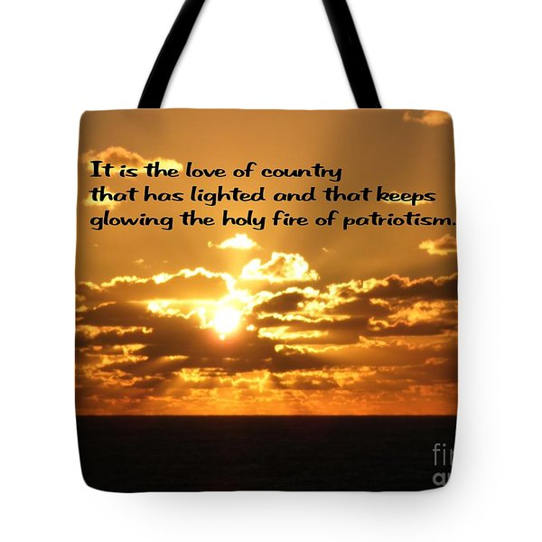 Love Of Country Tote Bag by Gary Wonning