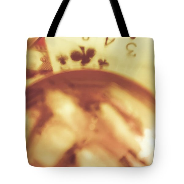 Love Of Whisky And Card Games Tote Bag