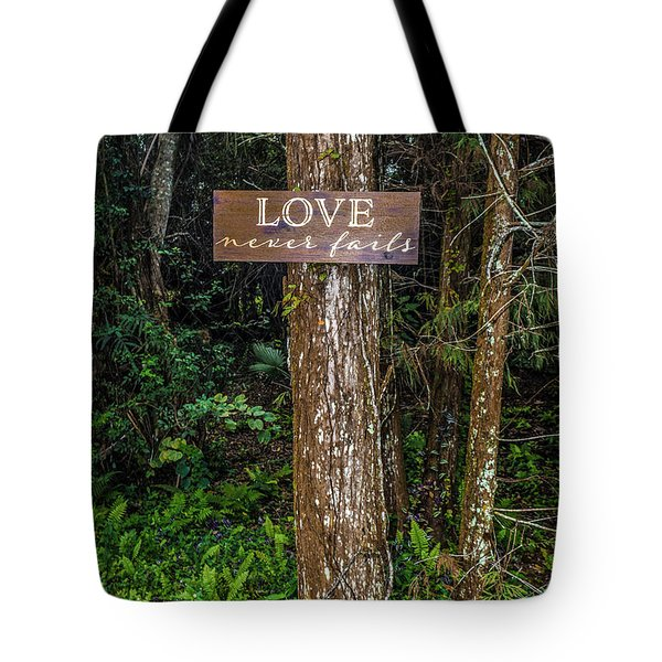 Love On A Tree Tote Bag