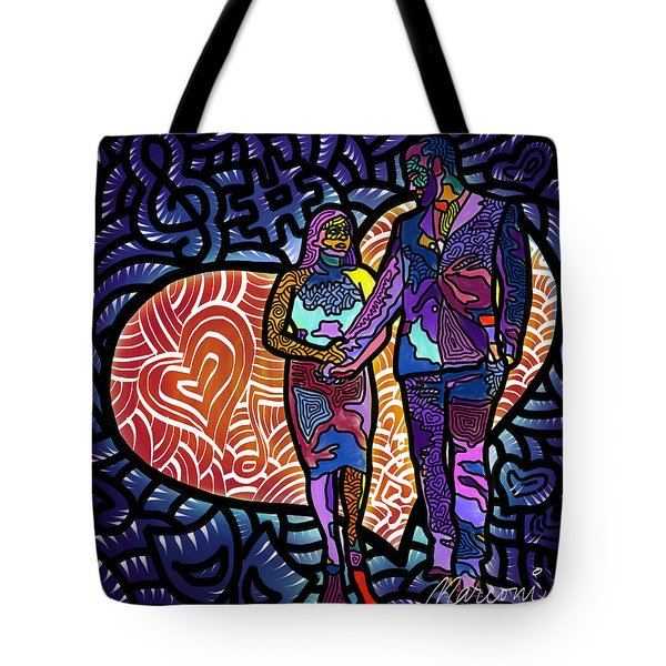 Love On High Notes Tote Bag