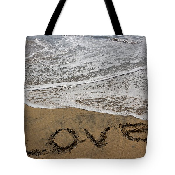 Love On The Beach Tote Bag by Heidi Smith