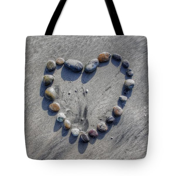 Love On The Rocks Tote Bag by Jane Linders