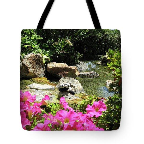 Tote Bag featuring the photograph Love On The Rocks- Los Angeles- Pandas by Ausra Huntington nee Paulauskaite