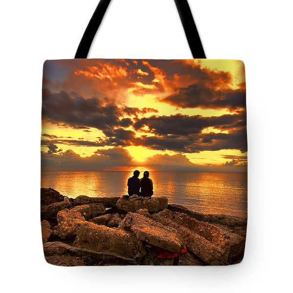 Love On The Rocks Tote Bag