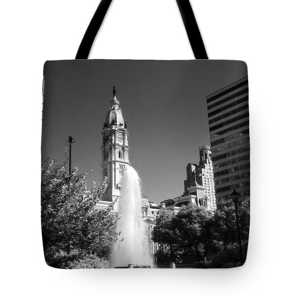 Love Park Over Looking City Hall Tote Bag