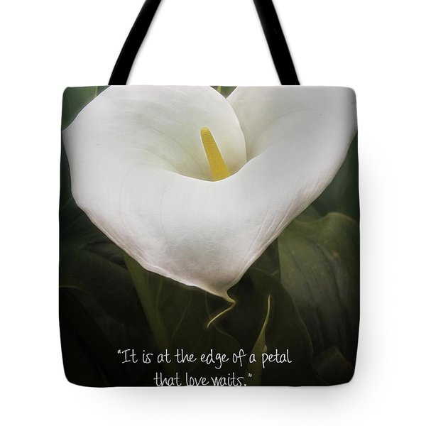 Tote Bag featuring the photograph Love by Peggy Hughes
