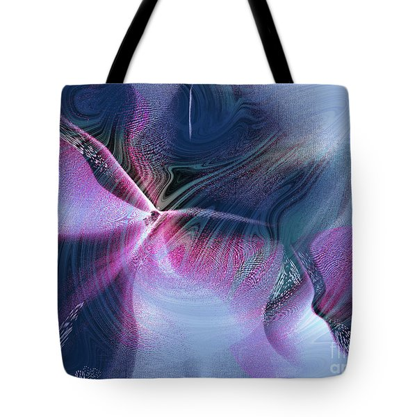 Tote Bag featuring the digital art Nature And Abstraction by Yul Olaivar