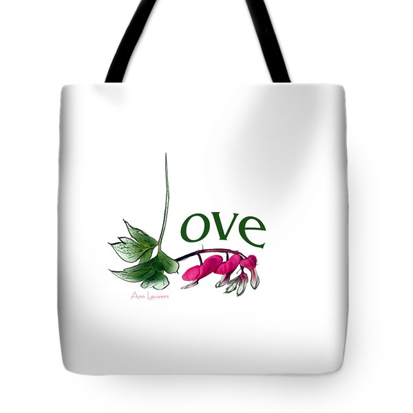 Tote Bag featuring the digital art Love Shirt by Ann Lauwers