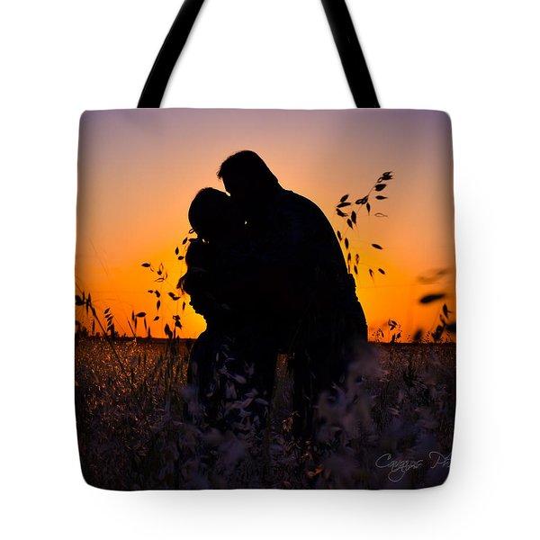 Love Silhouette Tote Bag