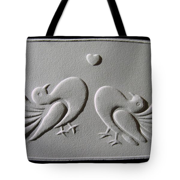 Tote Bag featuring the relief Love by Suhas Tavkar
