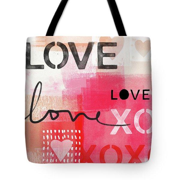 Love Times Three- Art By Linda Woods Tote Bag