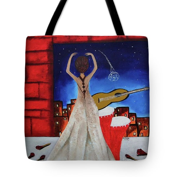 Love To Dance 002 By Saribelle Rodriguez Tote Bag by Saribelle Rodriguez
