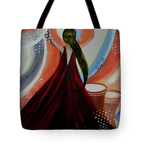 Love To Dance Abstract Acrylic Painting By Saribelleinspirationalart Tote Bag by Saribelle Rodriguez