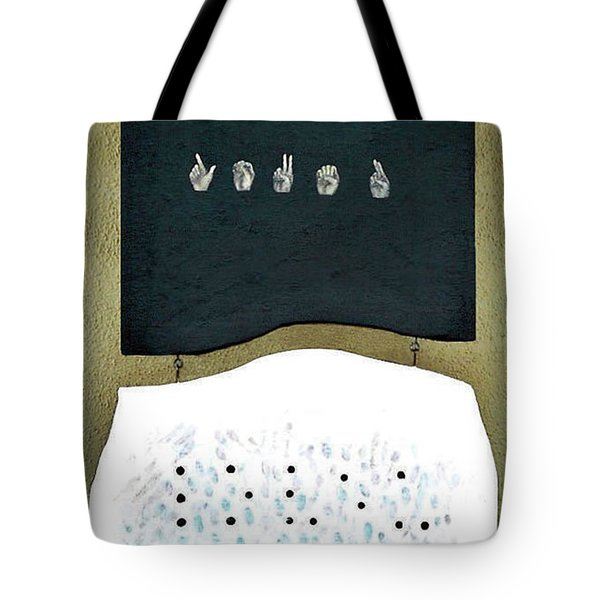 Tote Bag featuring the painting Love U by Fei A