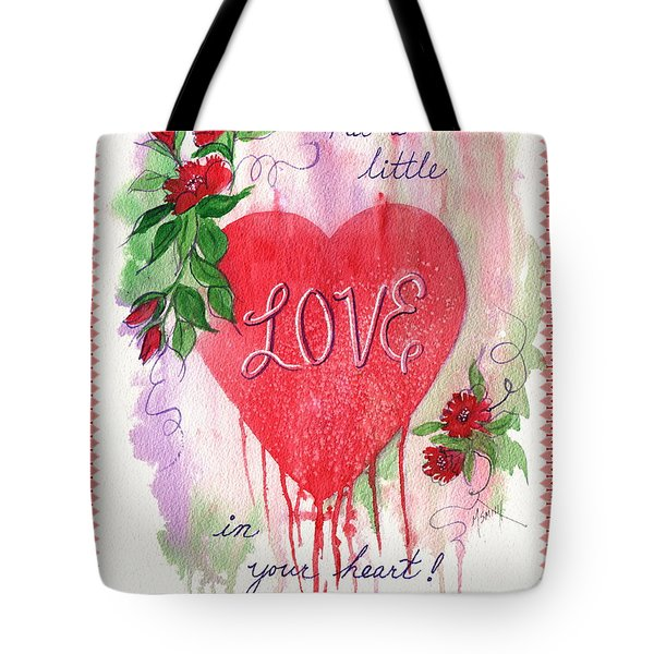 Tote Bag featuring the painting Love Valentine by Marilyn Smith