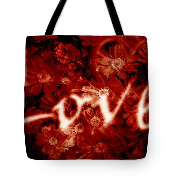 Love With Flowers Tote Bag by Phill Petrovic