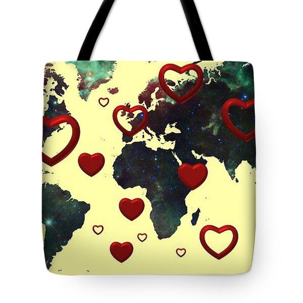 Love World Map 2 Tote Bag
