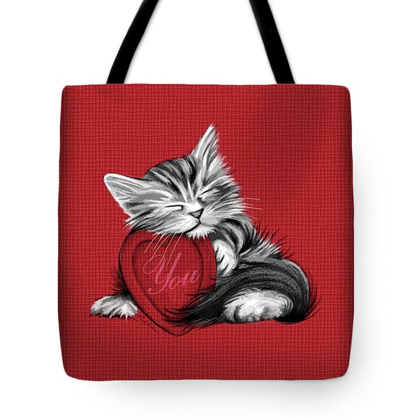 Tote Bag featuring the digital art Love You by Cindy Anderson