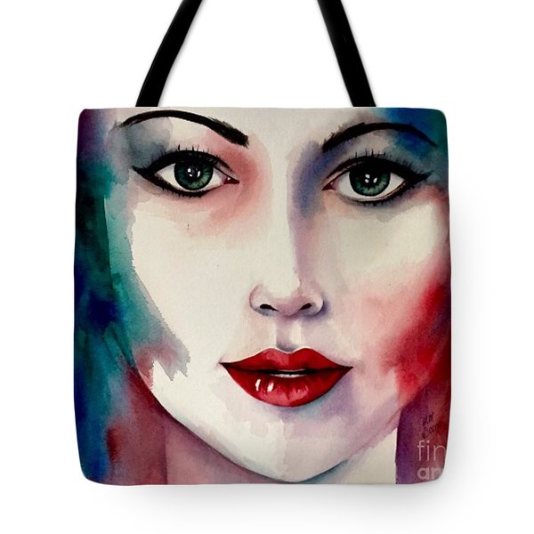 Tote Bag featuring the painting Love Your Colors  by Michal Madison