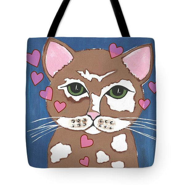 Loveable Cat Tote Bag by Kathleen Sartoris