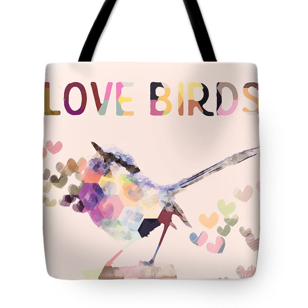 Lovebirds Tote Bag by Amanda Lakey