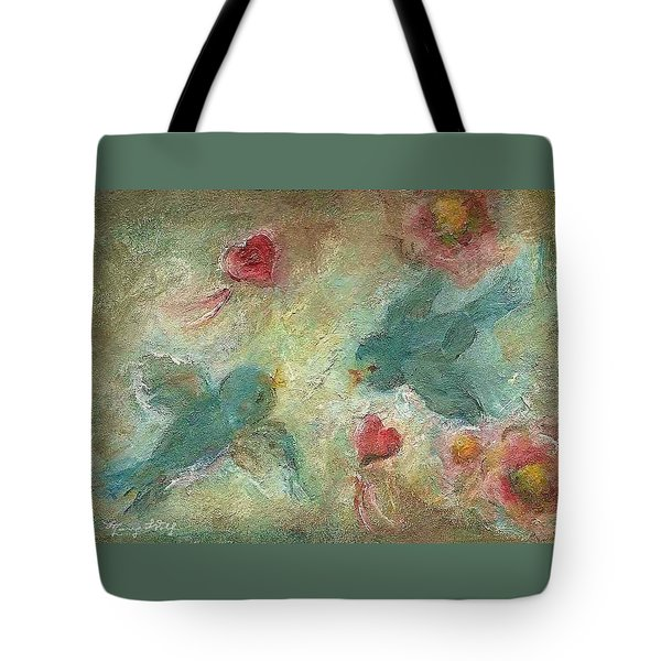 Lovebirds Tote Bag by Mary Wolf
