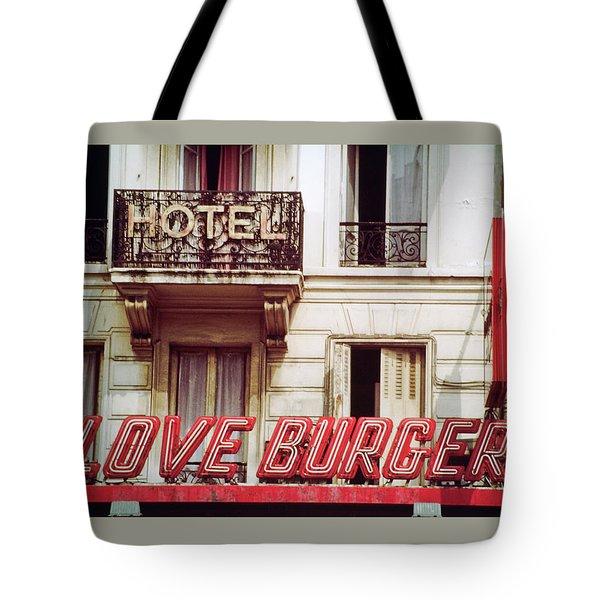 Loveburger Hotel Tote Bag