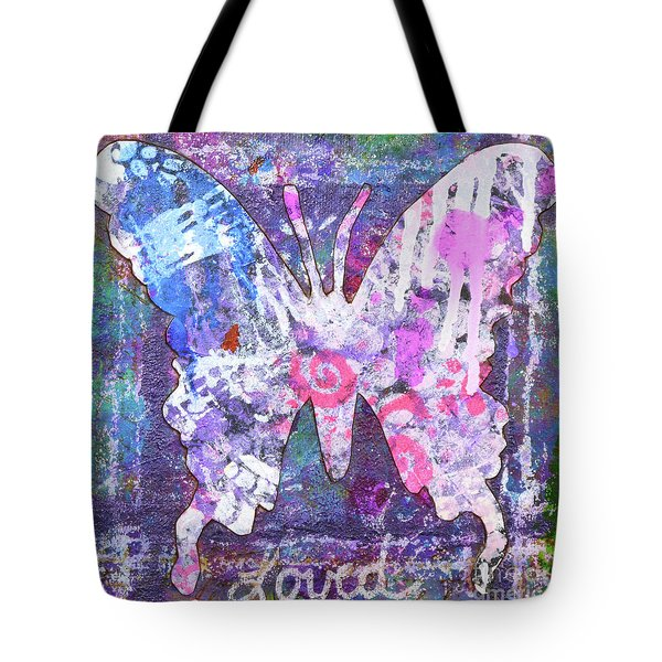Loved Butterfly Tote Bag