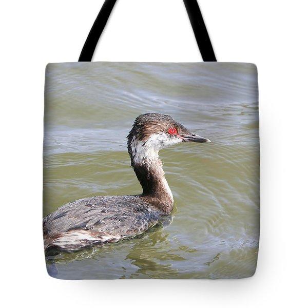 Lovely Horned Grebe Tote Bag