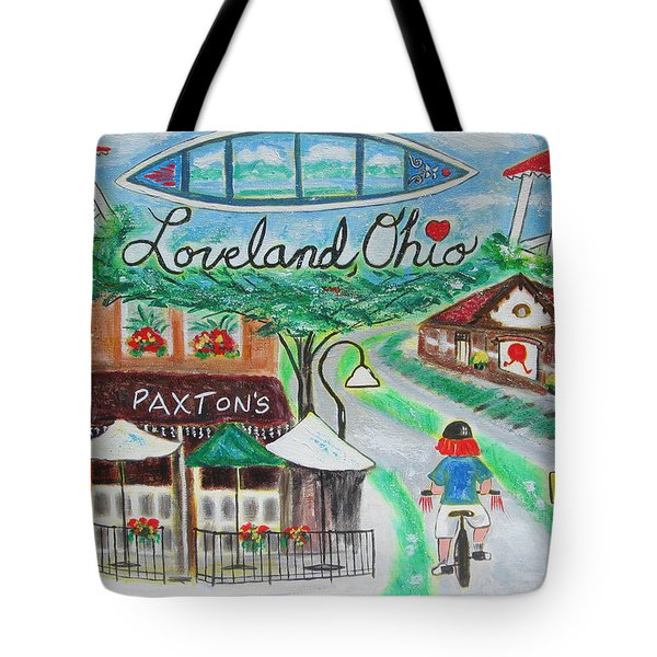Loveland Ohio Tote Bag by Diane Pape