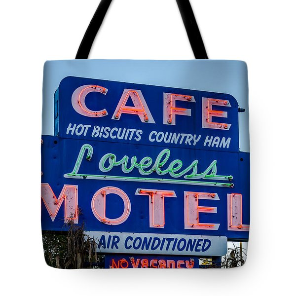 Loveless Cafe And Motel Sign Tote Bag