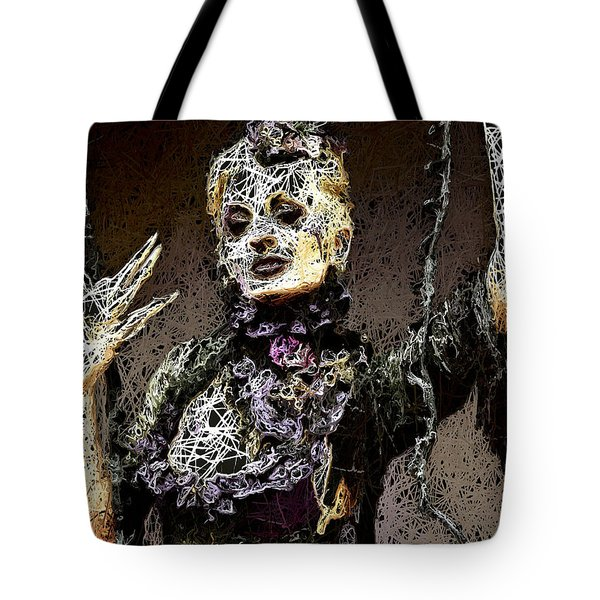 Tote Bag featuring the mixed media Lovely Agony by Al Matra