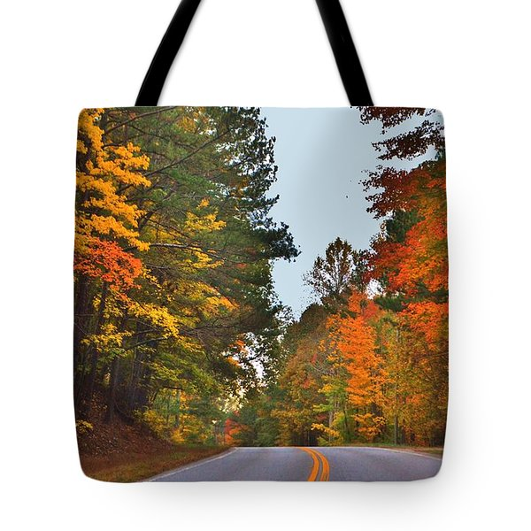 Lovely Autumn Trees Tote Bag