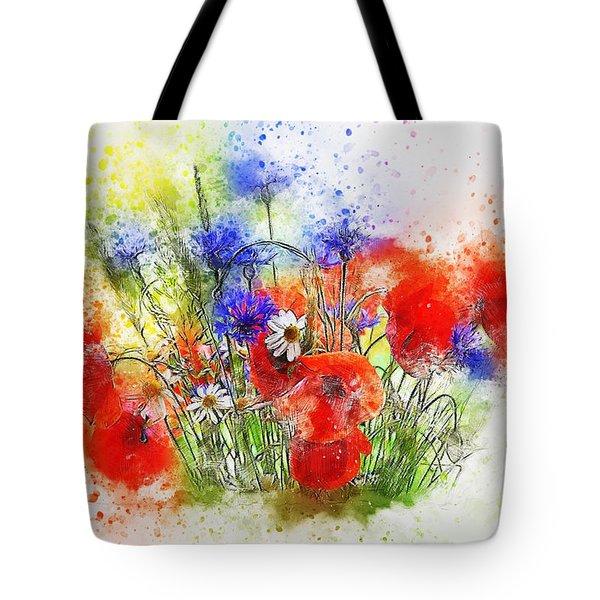 Watercolour Bouquet Tote Bag
