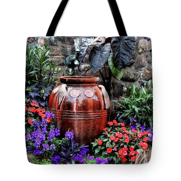 Tote Bag featuring the photograph Lovely Garden  by Trina Ansel