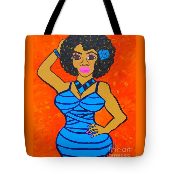 Tote Bag featuring the painting Lovely Lady by Christopher Farris
