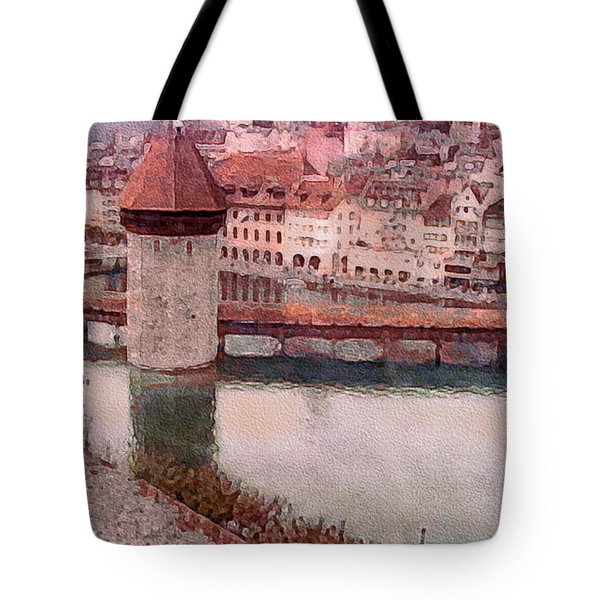 Lovely Lake Lucerne Tote Bag by Susan Maxwell Schmidt