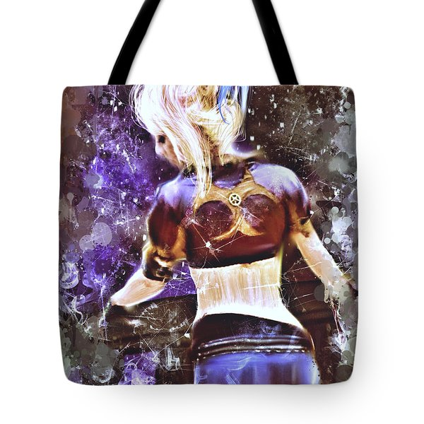 Tote Bag featuring the mixed media Lovely Night by Al Matra