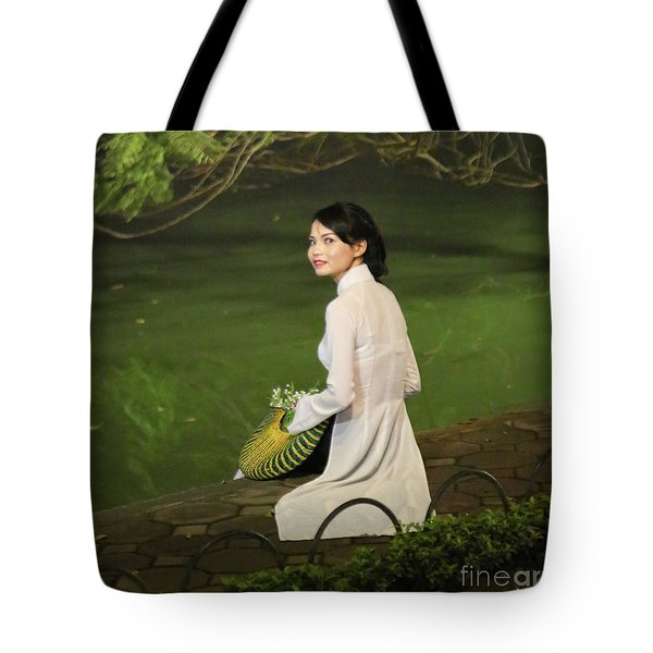 Lovely Vietnamese Woman  Tote Bag by Chuck Kuhn