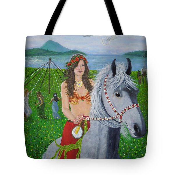 Lover / Virgin Goddess Rhiannon - Beltane Tote Bag