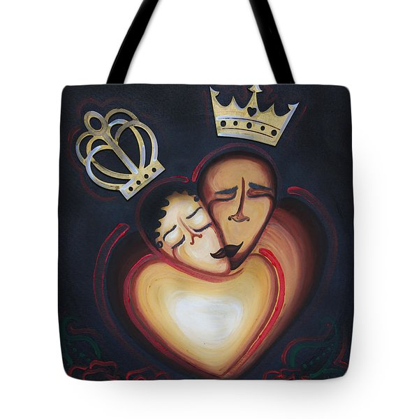 Lovers Embrace Tote Bag