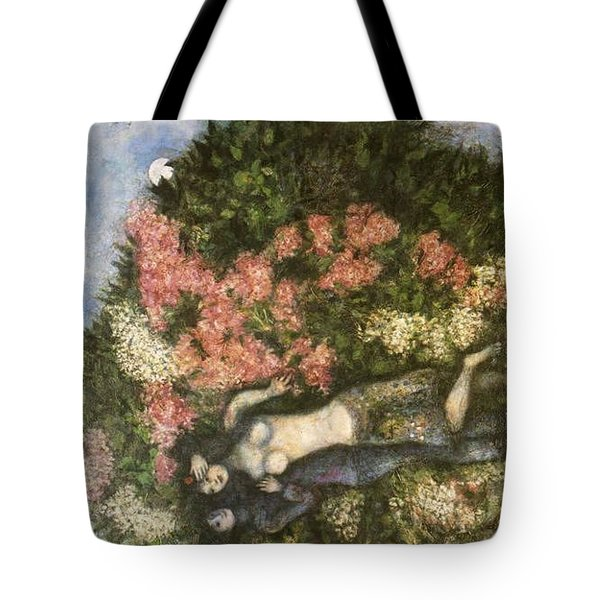 Lovers In The Lilacs Tote Bag