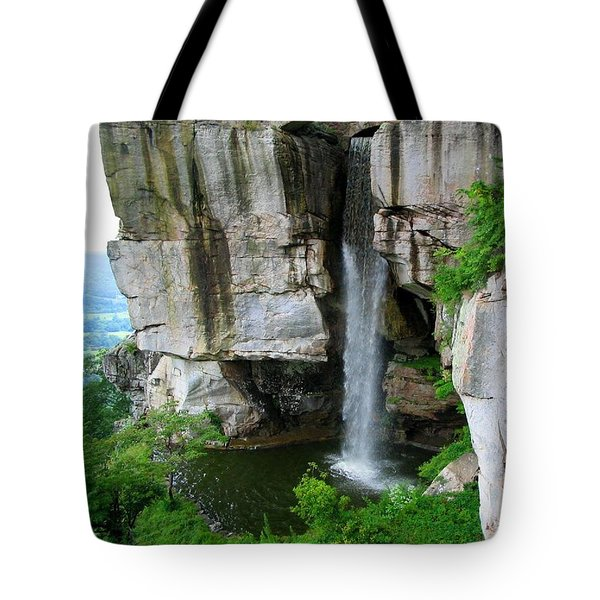 Lover's Leap Waterfall Tote Bag by April Patterson