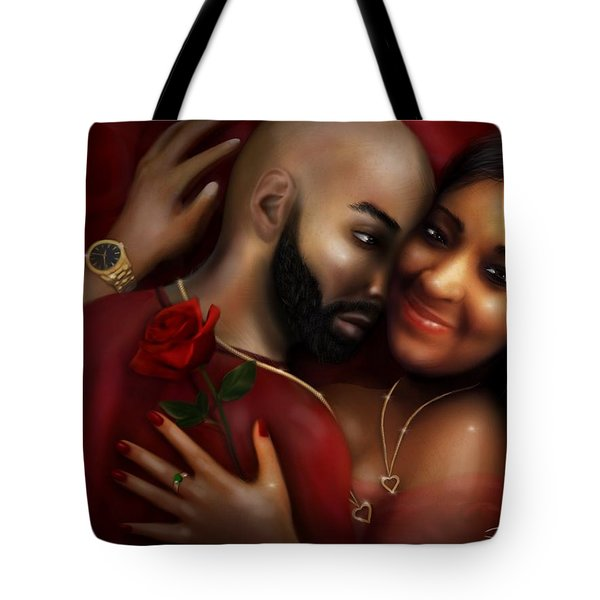 Lovers Portrait Tote Bag
