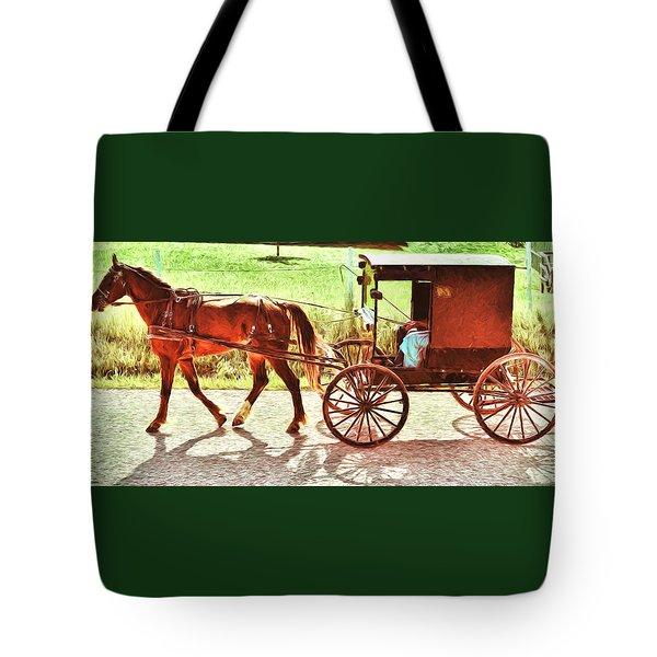 Lovers Red Pony Tote Bag