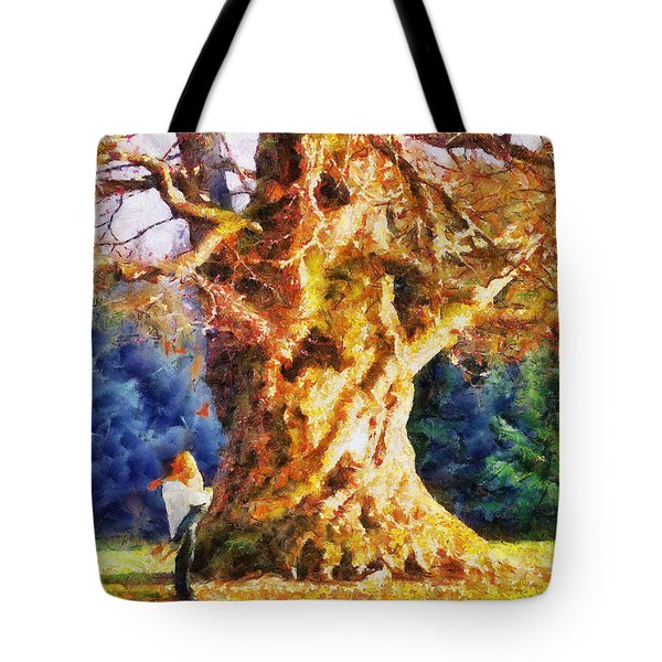Lovers Tree Tote Bag by Jai Johnson