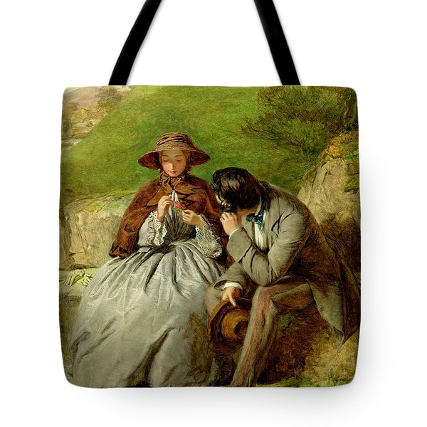 Lovers Tote Bag by William Powell Frith