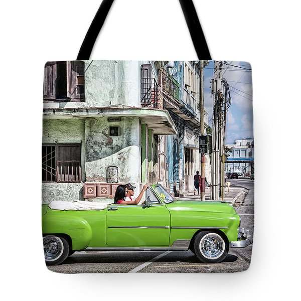 Lovin' Lime Green Chevy Tote Bag